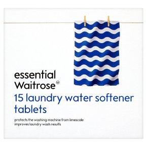 essential Waitrose 15 laundry water softener tablets