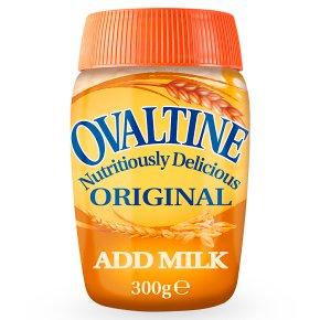 Ovaltine original add milk jar