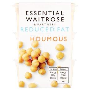 essential Waitrose reduced fat houmous snack pots
