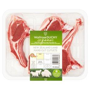 Waitrose Organic 4 hand cut New Zealand lamb rack cutlets