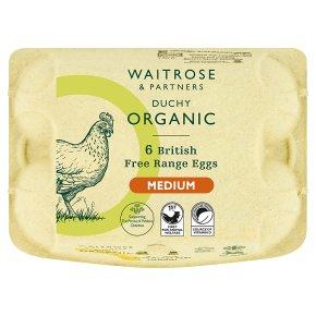 Waitrose Duchy Organic 6 medium free range eggs