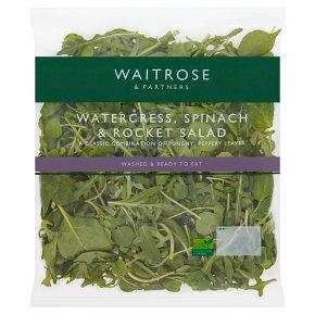 Waitrose watercress, rocket & spinach salad