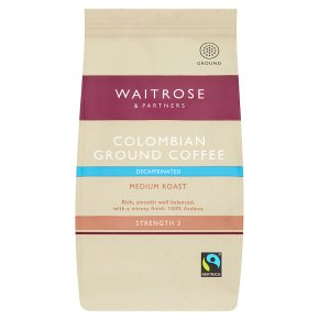Waitrose Colombian decaffeinated ground coffee