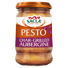 Sacla' char-grilled aubergine pesto