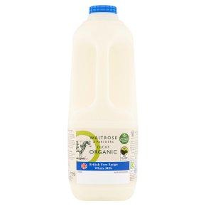 Waitrose Duchy Organic traditional whole milk unhomogenised