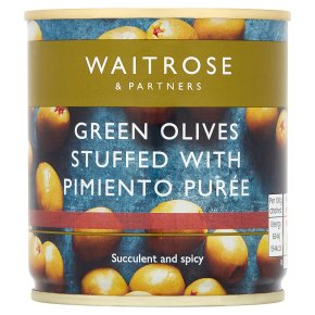 Waitrose green olives with pimiento