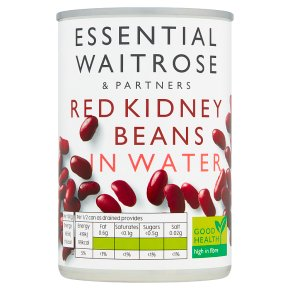 essential Waitrose canned red kidney beans in water