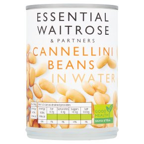 essential Waitrose canned cannellini beans in water