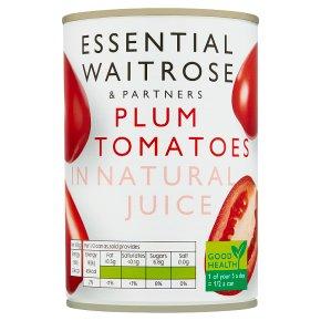 essential Waitrose tinned plum tomatoes in natural juice
