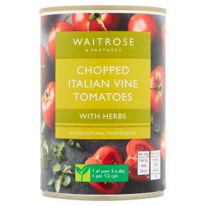 Waitrose chopped tomatoes with chopped herbs