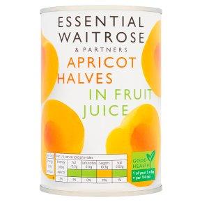 Essential Waitrose  Pride Apricot Halves (in fruit juice)