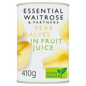 Essential Waitrose Pear Halves (in fruit juice)