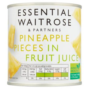 Essential Waitrose Pineapple Pieces (in fruit juice)