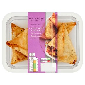 Waitrose Indian 4 Vegetable Samosas