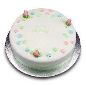 White Blossom Sponge Cake