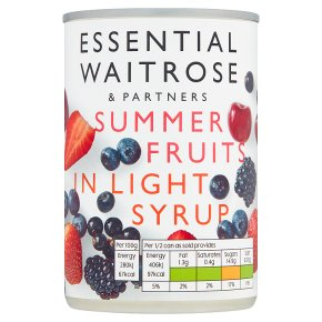 Essential Waitrose Summer Fruits (in syrup)