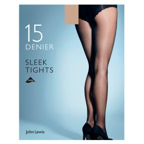 John lewis Sleek Natural Tan Tights - Medium
