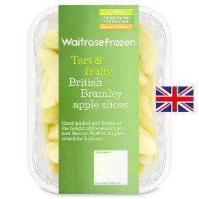 Waitrose frozen British Bramley apple slices