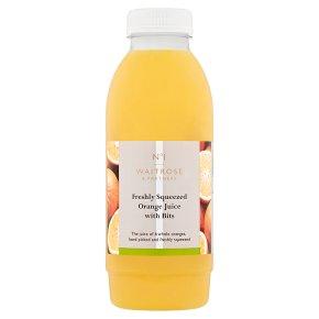 Waitrose 1 freshly squeezed orange juice with bits