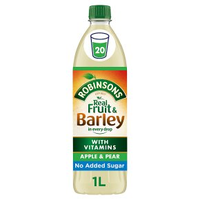 Robinsons no added sugar fruit & barley apple & pear juice