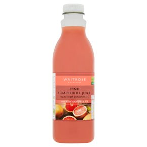 Waitrose pink grapefruit juice