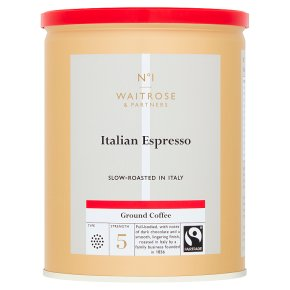 Waitrose roasted & ground espresso coffee