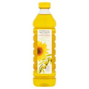 essential Waitrose sunflower & extra virgin olive oil