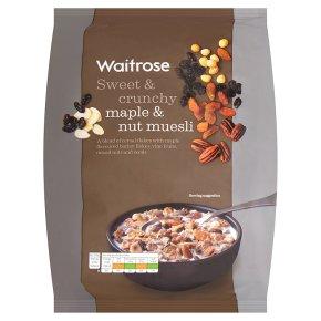 Waitrose maple triple nut muesli