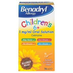 Benadryl Allergy Children's 6+