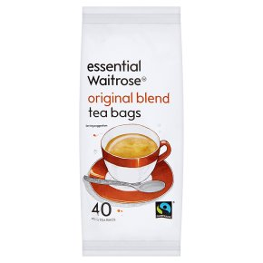 Essential Waitrose Original Blend Tea - 40 Round Bags