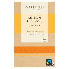 Waitrose 50 Ceylon tea bags
