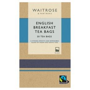 Waitrose English Breakfast - 50 bags