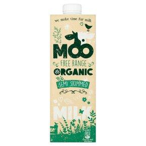 Moo Milk organic semi-skimmed UHT milk