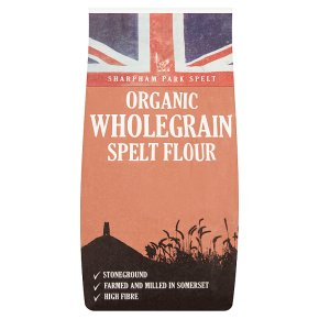 Sharpham Park organic spelt flour wholegrain