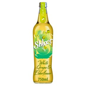 Shloer sparkling juice drink white grape&elderflower