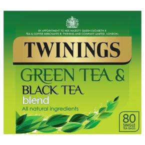 Twinings green and black tea blend 80 tea bags