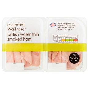 essential Waitrose British wafer thin smoked ham