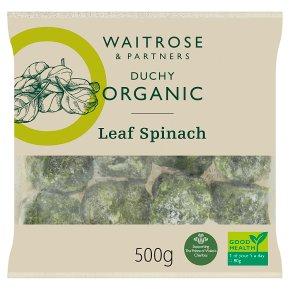 Waitrose Duchy Organic leaf spinach