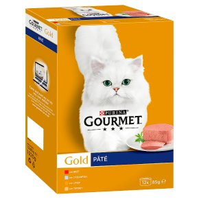Gourmet Gold Tinned Cat Food Pate Mixed