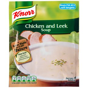 Knorr chicken & leek dry soup