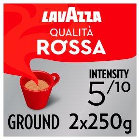 Lavazza Qualità Rossa Ground Coffee 2 x 250g (500g)