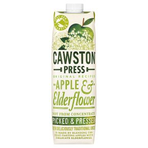Cawston Press pressed apple & elderflower juice