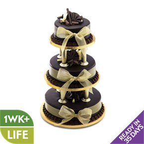 ready made wedding cakes waitrose chocolate wedding cake gold 3 tier waitrose 18968