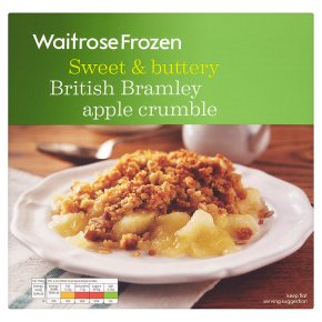 Waitrose Frozen Kentish Bramley apple crumble