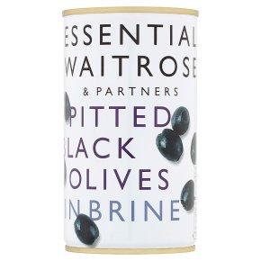essential Waitrose Pitted Black Olives