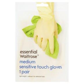 essential Waitrose sensitive gloves medium