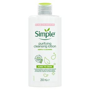 Simple purifying cleansing lotion