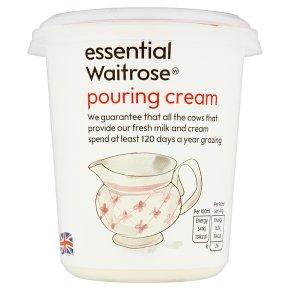 essential Waitrose reduced fat pouring cream