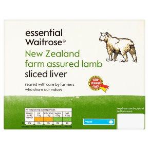 Waitrose New Zealand frozen lamb liver