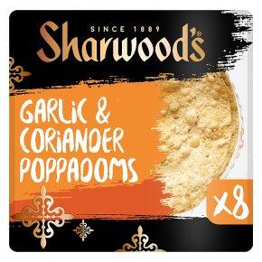 Sharwood's Garlic & Coriander Poppadoms
